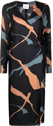 Alysi Graphic-Print Wrap Dress