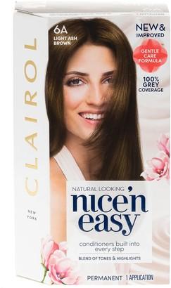 Clairol Nice 'N Easy Light Ash Brown Permanent Hair Dye Colour 6A