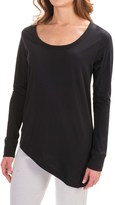 Yummie Tummie Yummie by Heather Thomson Jersey Slub Angled Hem Shirt - Long Sleeve (For Women)