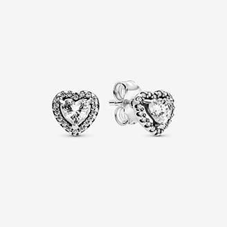 Pandora Women Silver Stud Earrings 298427C01