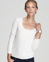 Bloomingdale's C by C by Sequin Scoop Neck Sweater