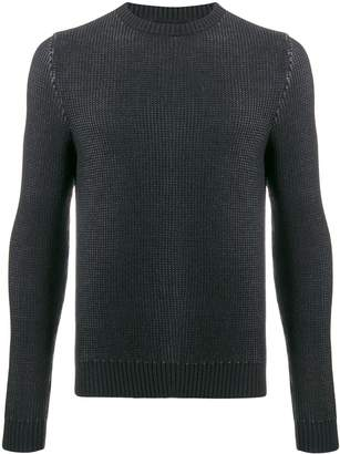 Zanone textured long sleeve jumper