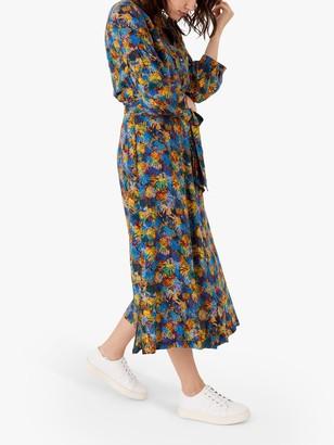 Brora Liberty Print Floral Midi Dress, Cobalt Palm