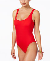Bar III High-Cut One-Piece Swimsuit, Only at Macy's