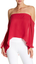 Nicole Miller Off-The-Shoulder Silk Shirt