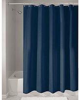 InterDesign Mildew-Free Water-Repellent Fabric Shower Curtain, 183 x 183 cm - Navy