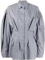 Natasha Zinko oversized cinched waist shirt