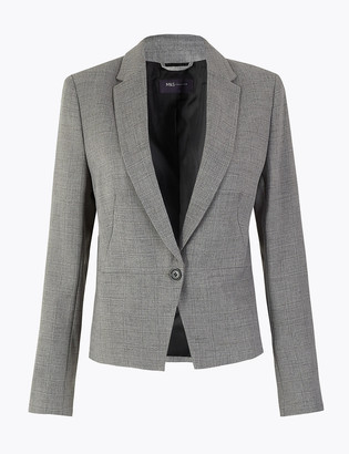 Marks and Spencer Checked Single Breasted Blazer