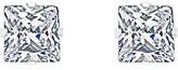 Swarovski Sevil 925 Women's Earrings - Sterling Silver Princess-Cut Stud Earrings With Crystals