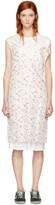 R 13 White Floral Overlay Slip Dress
