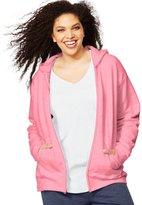 Just My Size Women`s ComfortSoft EcoSmart Fleece Full-Zip Hoodie, OJ105