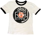 Rowdy Sprout Youth Boy's Play That Funky Music Ringer Tee