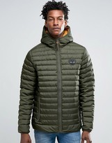 Timberland Lightweight Hooded Down Jacket In Green