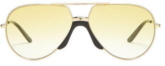 Gucci Aviator Metal Sunglasses - Womens - Yellow Multi