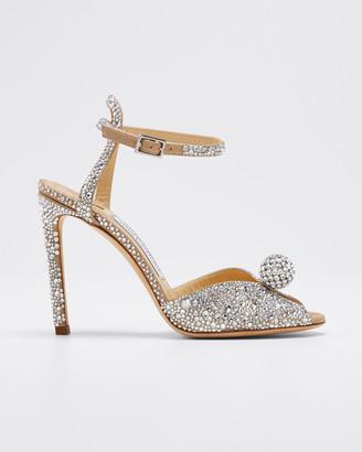 Jimmy Choo Sacora Shimmer Suede Sandals