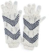 Muk Luks Women's Shag Texture 3-in-1 Gloves - Natural