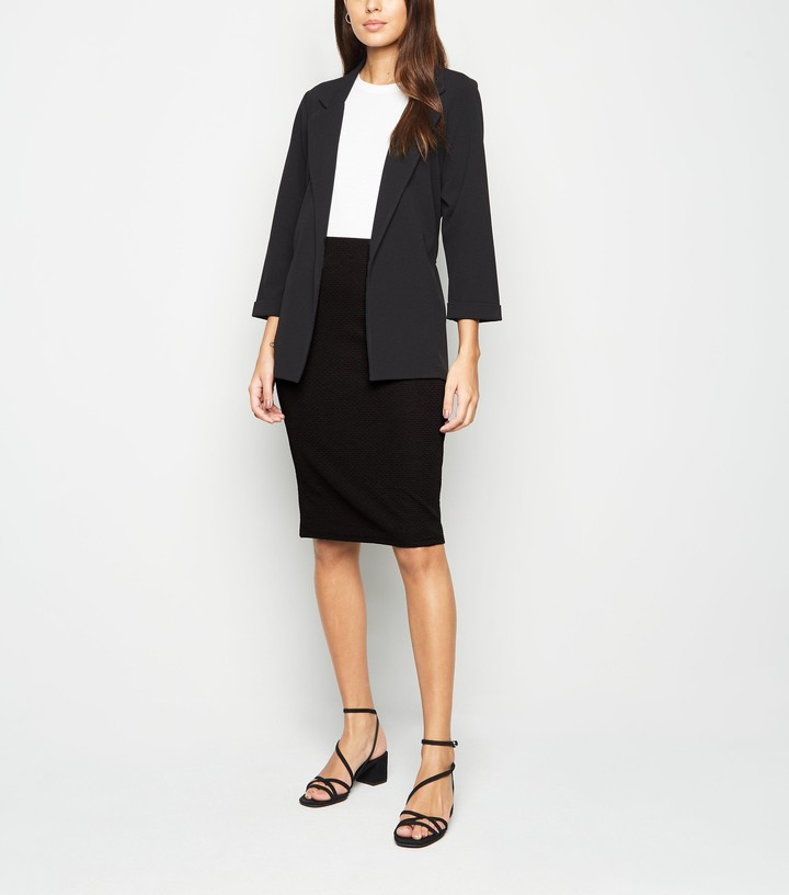 Thumbnail for your product : New Look Textured Midi Pencil Skirt