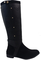 Black Laser-Cut Riding Boot