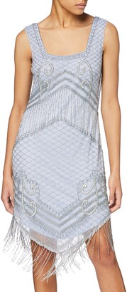 Frock and Frill Women's June Embellished Fringed Flapper Dress Party