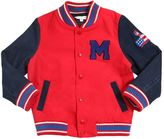Little Marc Jacobs Cotton Gabardine & Denim Bomber Jacket