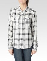 Paige Mya Shirt - White/Black Myers Plaid