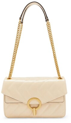 Sandro Paris Quilted Leather Yza Shoulder Bag