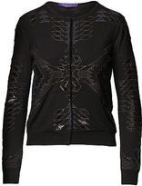 Ralph Lauren Beaded Merino Wool Cardigan