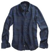 Todd Snyder Gable Shirt in Charcoal Plaid