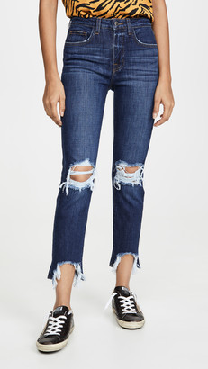L'Agence High Line Skinny Destruct Jeans