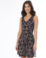 Iz Byer Juniors' Floral Ponte Dress