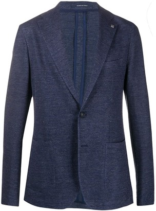 Tagliatore Textured Multi-Pocket Blazer Jacket