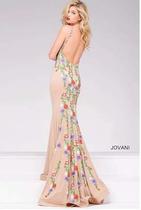Jovani Multicolor Embroidered Gown
