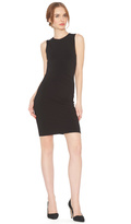 Alice + Olivia Delores Side Pleat Fitted Tank Dress
