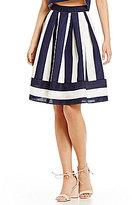 Lucy Paris Kara Stripe Flare Skirt