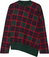 Cédric Charlier Plaid wool sweater