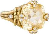 Judith Ripka Canary Crystal and Diamond Oliva Ring