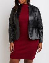 Charlotte Russe Plus Size Faux Leather Peplum Jacket