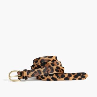 J.Crew Leopard calf hair belt