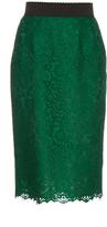 Dolce & Gabbana Cordonetto-lace pencil skirt