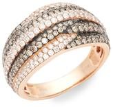 Thumbnail for your product : LeVian Chocolatier 14K Strawberry Gold, Chocolate Diamond Vanilla Diamond Band Ring/Size 7