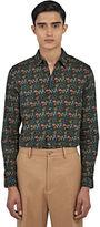 Gucci Men's Duke Floral Print Shirt In Green