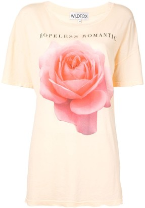Wildfox Couture Hopeless Romantic longline T-shirt