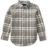 Ralph Lauren Childrenswear Cotton-Flax Plaid Sports Shirt