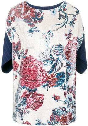 Antonio Marras Floral Embroidered Top