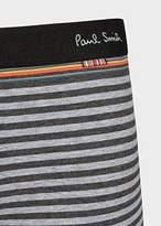 Paul Smith Men's Light And Dark Grey Stripe Low-Rise Boxer Briefs