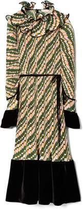 Tory Burch Pleated Ruffle Dress