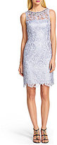 Adrianna Papell Embellished Lace Cocktail Dress