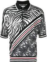 Dolce & Gabbana zebra stripe polo shirt