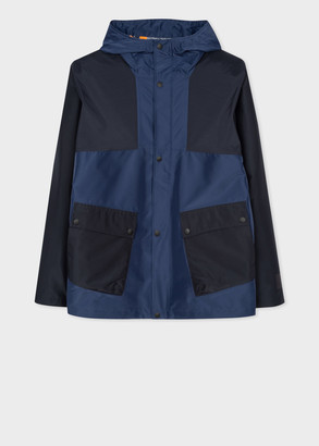Paul Smith Men's Navy Recycled-Polyester Waterproof Jacket