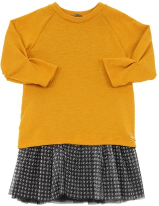 Yellowsub Tulle Dress W/interlock Sweatshirt
